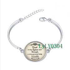 God is my Refuge and glass cabochon Tibet silver bangle bracelets wholesale