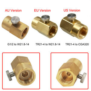 For CO2 Cylinder Refill Adapter TR21-4 to CGA320 Connector TR21-4 to W21.8-14