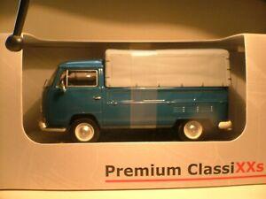 RARE EARLY PREMIUM CLASSIXXS 1/43 VW T2A BUS FLATBED WITH TARPAULIN SUPERB NLA