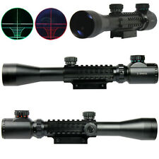 3-9X40 EG Optical Rifle Scope Red Green illuminated Reticle 20/11mm Rail Mount
