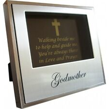 Godmother Aluminium Photo Frame | Religious Gift | Engravable | Keepsake