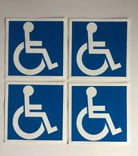 8x Handicap SIGN Stickers blue and White Decals disable