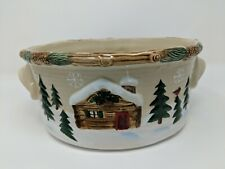 St Nicholas Square Heartland Collection Salad Serving Bowl Round with Handles