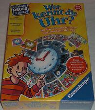 Ravensburger Wer kennt die Uhr? Mit Stunden und Minuten spielend durch die Uhr
