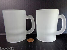 """Set (2) Mini Frosted Childerns ROOTBEER FLOAT MUGS 3.25""""T Shot Glass Cups GVC!"""
