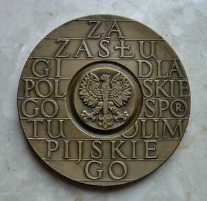 POLISH Polnad OLYMPIC COMMITTEE MERITORIOUS MEDAL PRL obsolete