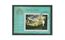 GB locals: Principality of Sealand 1970 Sea Paintings Art CTO 1v miniature sheet