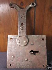Antique Précoce Américain Fer Forgé Décoré Boîte Lock Conestoga Wagon ? Pa?