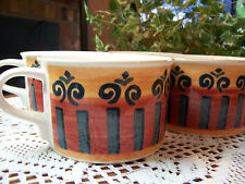 SET OF 4 Mikasa Intaglio CAOO5 PATTERN GRANADA RED Coffee Tea Cup Mug VERY NICE