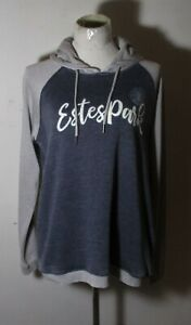 "Women's CAMP DAVID Gray ""Estes Park"" Sweatshirt Hoodie Size M NWT"