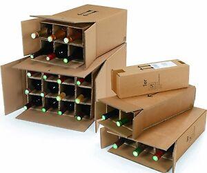 Weinkarton 1-2-3-6-9-12-15-18 Flaschen mit DHL und UPS Zulassung Flaschenkarton