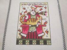 New ListingMeowy Christmas-M Stoebner/Schmuff-Handpain ted Needlepoint Canvas