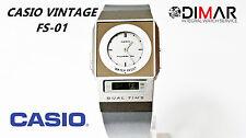 VINTAGE CASIO FS-01 DUAL TIME MODULO 2321 DIAL REDONDO
