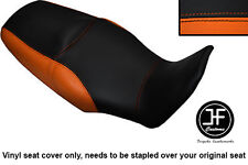 BLACK & ORANGE VINYL CUSTOM FITS HONDA XL 1000 V VARADERO 08-13 DUAL SEAT COVER