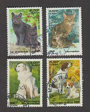 France -Timbres oblitérés - Série chats et chiens N°3283 à 3286
