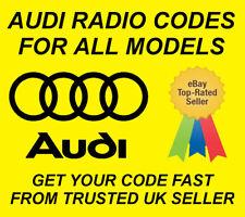 AUDI RADIO CODE UNLOCK CODE FOR RADIO RNS-E NAVIGATION | ALL MODELS