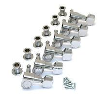 Schaller Chrome 6 Inline M6 Mini Sealed Tuners Strat/Tele® Guitar TK-0960-010
