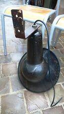 Lampe Applique Industrielle Gamelle Tôle émaillée MAZDA de cour d' Usine 1930