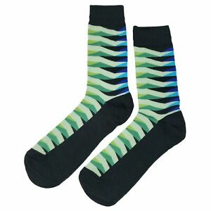 NWT Midnight Slick Dress Socks Novelty Men 8-12 Multi-color Fun Sockfly