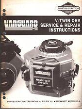 BRIGGS & STRATTON VANGUARD V-TWIN OHV SERVICE & REPAIR MANUAL  (834)