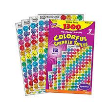 1300 Pegatinas De Recompensa Sparkle sonrisa maestro de escuela-Ideal para gráficos de progreso