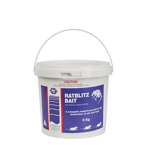 Rat Blitz 3Kg - Premium Bait - Rat & Mouse Poison - Rat Bait - Rodenticide