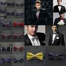 Mens Formal Silk Satin plain Tuxedo Solid Bow Tie Formal Wedding Bowtie Necktie
