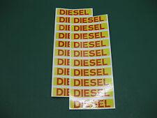 20 Diesel Fuel ADESIVI testo Rosso Su Giallo