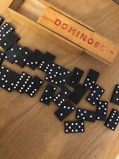 Vintage Wooden Domino set in Original Box
