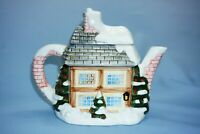 Annie Rowe The Village Collection Christmas Winter Cottage Teapot