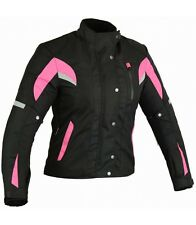 Chaqueta rosa para moto de mujer, Totalmente Impermeable en tallas M y XL