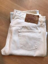 LEVI'S 501 jeans taille 36 W x 32 L-Vintage-Blanc made in USA-NEUF