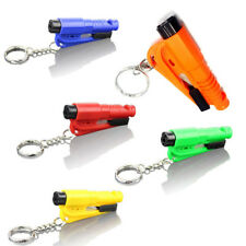 3 in 1 Car Safety Escape Hammer Seat Belt Pads Cutter Window Breaker Key Ring