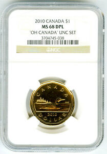 2010 $1 OH CANADA NGC MS68 DPL DEEP PROOF LIKE LOON LOONIE DOLLAR TOP ONLY 2