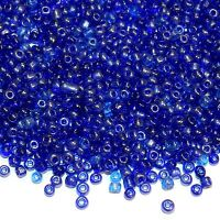 size 6//0 50g glass seed beads Purple Transparent Lustered approx 4mm
