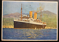 1933 Bremen Germany Picture Postcard cover to Dresden SS Sierra Cordoba
