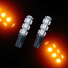 2x T10 W5W 194 Scooter Motor Car 13 5050SMD LED Turn Bulbs AmberP3