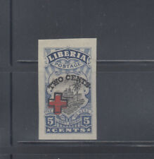 Liberia 1918  Red Cross on 5c ship Sc B5 mint hinged IMPERF