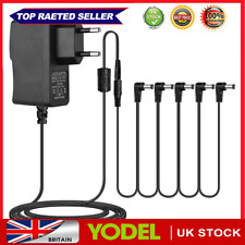 More details for 5 way electric guitar effect pedal power supply accessories cables adapter