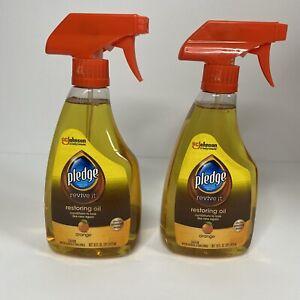 Orange Pledge Revive It Restoring Oil Spray 16 OZ Lot Of 2