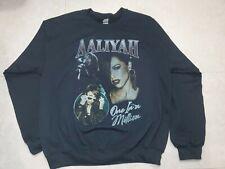 Nwot Vintage Aaliyah RePrint One In A Million Album Sweatshirt Tour Rap Pop Sz L