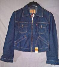 BNWT lovely LEVI'S Girls Short Zip Trucker Jacket- size MEDIUM      (#L-6-M)
