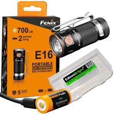 Fenix E16 700 lumen CREE LED compact EDC flashlight rechargeable battery kit