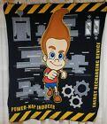 Jimmy Neutron Boy Genius Fleece Blanket HTF.  Energy Recharging Device