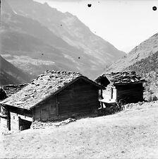 SUISSE c. 1948 - Chalet Ferme Saas Almagell - Négatif 6 x 6 - Sui 240