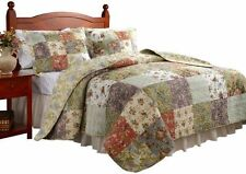 NEW Blooming Prairie Quilt Sets Cotton Quilts Bedding Greenland Home King Size
