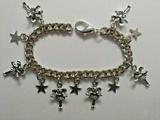 Childs Handmade Silver Bracelet with FAIRY and STAR Charms