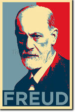 SIGMUND FREUD ART PHOTO PRINT (OBAMA HOPE PARODY) POSTER GIFT