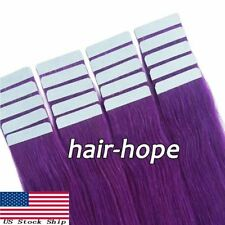 Tape in Human Hair Extensions Invisible Seamless Skin Weft Straight Remy Hair US