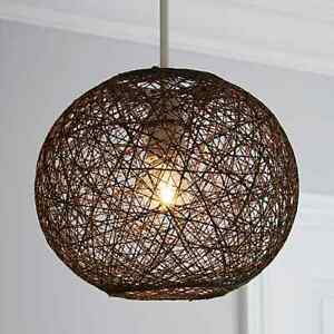 Abaca Ball Easy Fit Pendant light shade Bedroom Guest Room Home Decorative